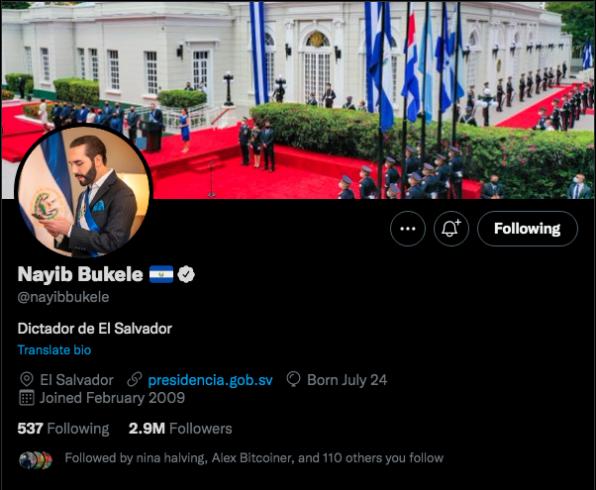 Nova bio de Bukele causa polêmica.