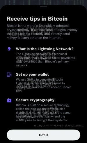 Imagem de suposta funcionalidade de pagamentos via LN. Fonte: Alessandro Paluzzi/Twitter.