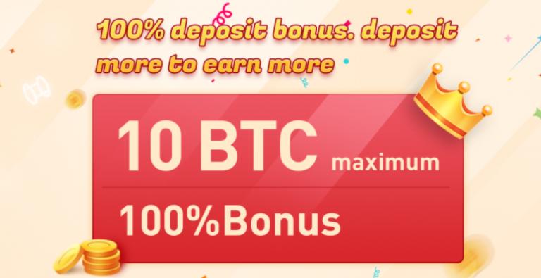 Bônus de depósito de 100%