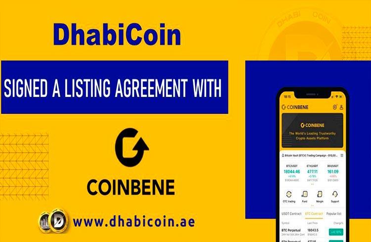 Na exchange CoinBene em 2022, Token DhabiCoin (DBC) Alcança Outra Marca Incrível
