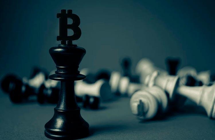 Rei nunca perde a coroa: Bitcoin supera Ethereum, Solana, Cardano, XRP e Polkadot em fluxos institucionais