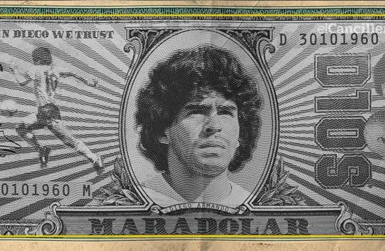 Argentinos criam token 'Maradólar' para homenagear Diego Maradona