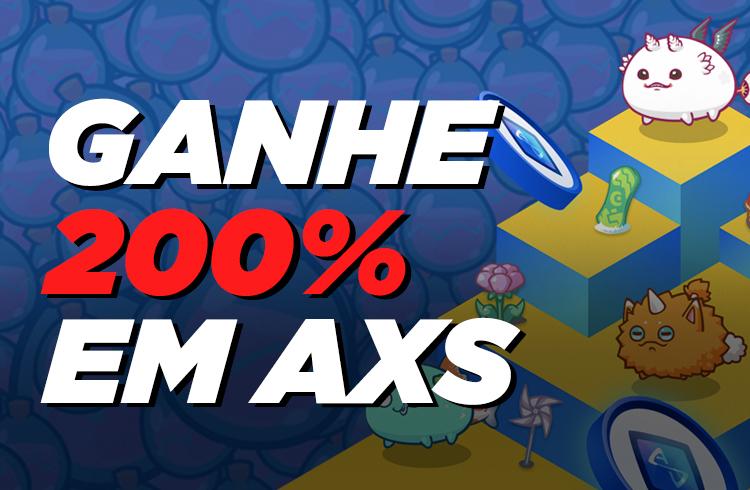 AXS sobe 200% em 15 dias com lançamento de stake